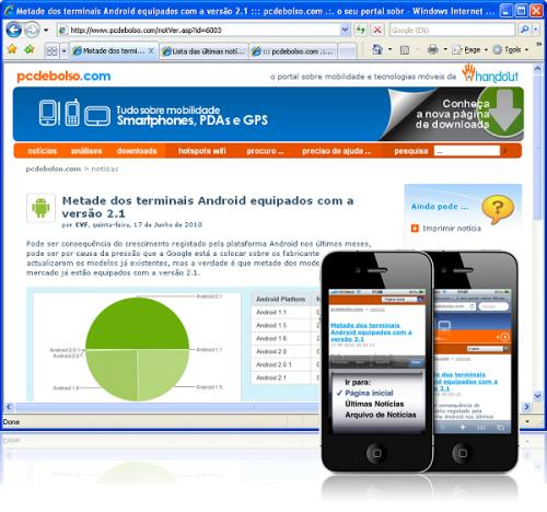 exemplos de websites mobile